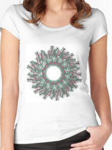 Christmas Wreath Women's Fitted Scoop T-Shirt