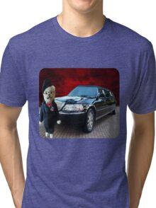 Teddy Bear Limousine Chauffeur Kids (CHILDRENS) Tee Shirt Tri-blend T-Shirt
