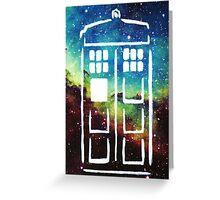 Tardis Galaxy Greeting Card