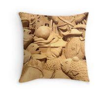 sand sculpture 2 Throw Pillow