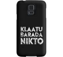 Klaatu Barada Nikto Samsung Galaxy Case/Skin