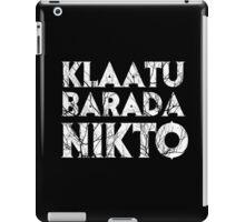 Klaatu Barada Nikto iPad Case/Skin