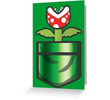 Mario - Piranha Plant Pocket Greeting Card