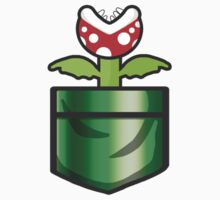 Mario - Piranha Plant Pocket One Piece - Short Sleeve