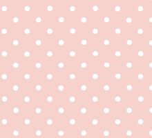 Artistic Abstract Retro Polka Dots Pink White by sitnica