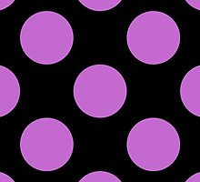 Artistic Abstract Retro Polka Dots Purple Black by sitnica
