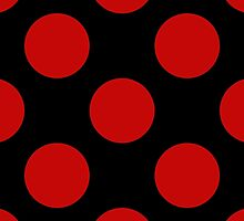 Artistic Abstract Retro Polka Dots Red Black by sitnica