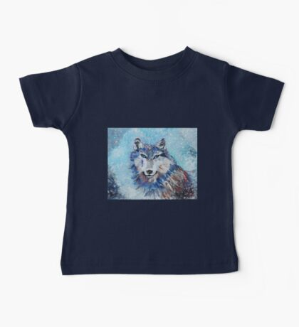 Snow Wolf - Animal Art by Valentina Miletic Baby Tee