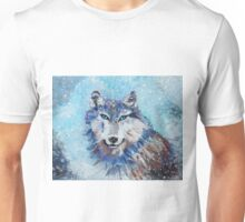 Snow Wolf - Animal Art by Valentina Miletic Unisex T-Shirt