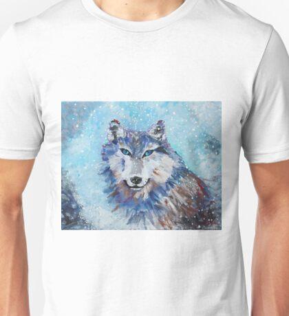 Snow Wolf - Animal Art by Valentina Miletic Unisex T-Shirt