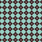 Green and Brown Argyle Plaid Checks Pattern by ArtformDesigns
