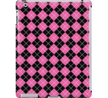 Pink and Black Argyle Plaid Checks Pattern iPad Case/Skin