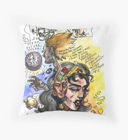 Speak, Future, Speak Throw Pillow