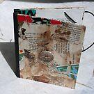 Oeuvre d'art sur Etui KINDLE #3 - Pièce unique - ORIGINAL COLLAGE by Pascale Baud