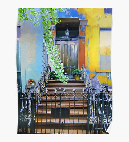 Townhouse in Spring Poster