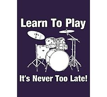 Learn To Play Drums Photographic Print