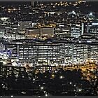 Canberra CBD at Night - as seen from Mount Ainslie by Wolf Sverak