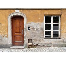 Old house facade. Photographic Print