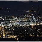 Canberra at Night - from Mount Ainslie by Wolf Sverak