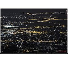 Shapes of a City at Night - Canberra Photographic Print