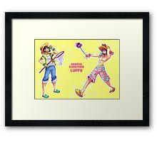 One Piece fanart : Luffy Framed Print