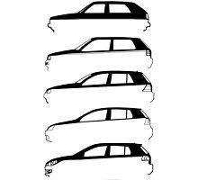 Silhouette Volkswagen VW Golf Mk1-Mk7 Left by reujken