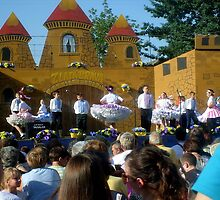 Slovak traditional children dancing in traditional costumes by Ana Belaj