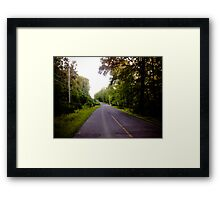 Pennsylvania Road Framed Print