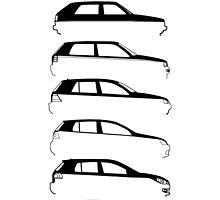 Silhouette Volkswagen VW Golf Mk1-Mk7 Right by reujken