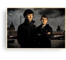 Sherlock Retro Canvas Print