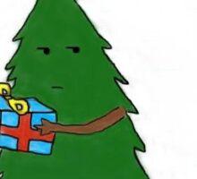 Christmas Tree Taking Present Sticker