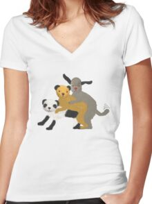 Funny, offensive Sooty,Sweep and Sue Women's Fitted V-Neck T-Shirt
