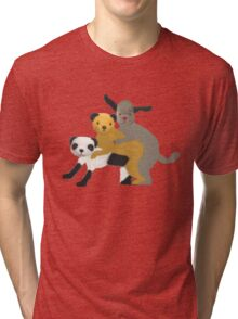 Funny, offensive Sooty,Sweep and Sue Tri-blend T-Shirt
