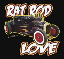 Rat Rod Love T-Shirt by ChasSinklier