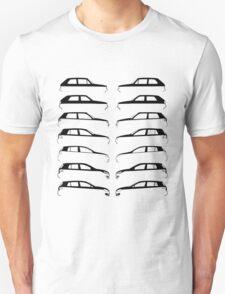 Silhouette Volkswagen VW Golf Mk1-Mk7 Left and Right Unisex T-Shirt