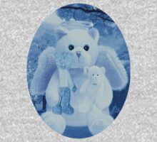 Ƹ̴Ӂ̴Ʒ LOVE AND AFFECTION FROM A BEARY SPECIAL ANGEL TEE SHIRT BLUE FOR BOYS GUARDIAN ANGEL BEAR Ƹ̴Ӂ̴Ʒ One Piece - Short Sleeve