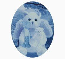Ƹ̴Ӂ̴Ʒ LOVE AND AFFECTION FROM A BEARY SPECIAL ANGEL TEE SHIRT BLUE FOR BOYS GUARDIAN ANGEL BEAR Ƹ̴Ӂ̴Ʒ Kids Tee