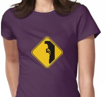 Free climbing Womens Fitted T-Shirt