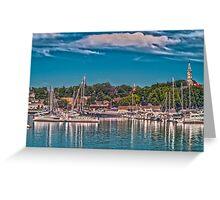 Summertime Marina Greeting Card
