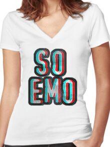So Emo Women's Fitted V-Neck T-Shirt