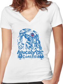 APOCALYPSE CANCELED(ver2) Women's Fitted V-Neck T-Shirt