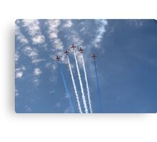 The Red Arrows V Formation Canvas Print