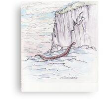 Coasting The Fjord Canvas Print