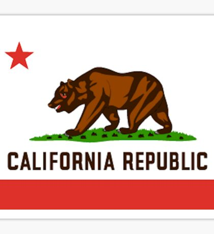 California Bear Flag Republic Sticker