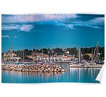 Summertime Marina in Port Poster