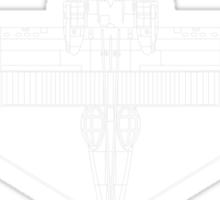 Consolidated PBY Catalina Blueprint Sticker