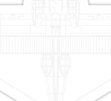 Consolidated PBY Catalina Blueprint Sticker