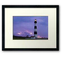 Lighthouse at Dawn - Bodie Island Light in NC Framed Print