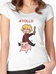 #YOLLO Women's Fitted Scoop T-Shirt