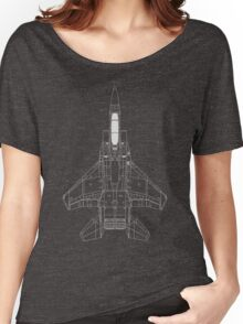 McDonnell Douglas F-15 Eagle Blueprint Women's Relaxed Fit T-Shirt